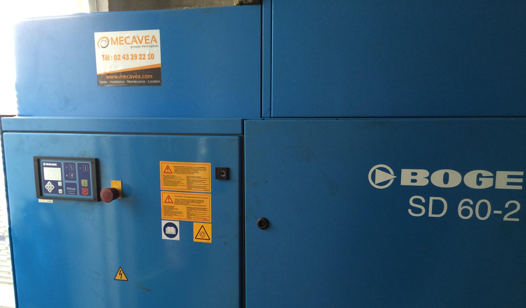 Compresseur d'air MECAVEA en Sarthe 72 Vente et maintenance